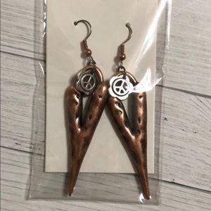 Peace sign Heart earrings